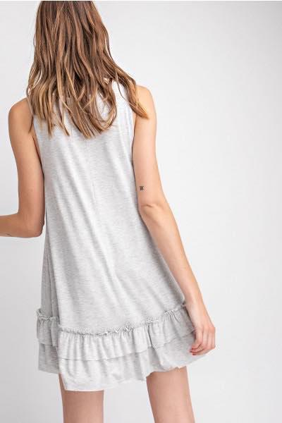 Sleeveless Tunic in Lighter Gray - My Sister's Porch