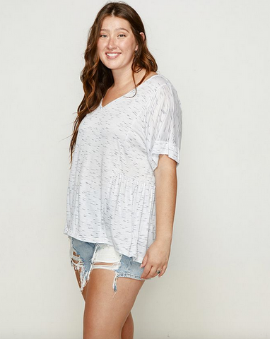 Sweet Summer V-Neck Top - plus