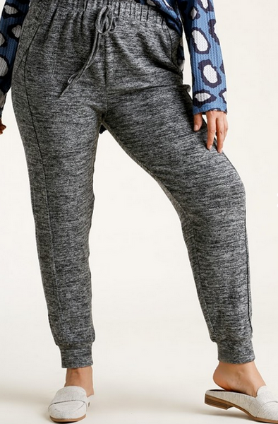Brushed Knit Joggers in H. Charcoal