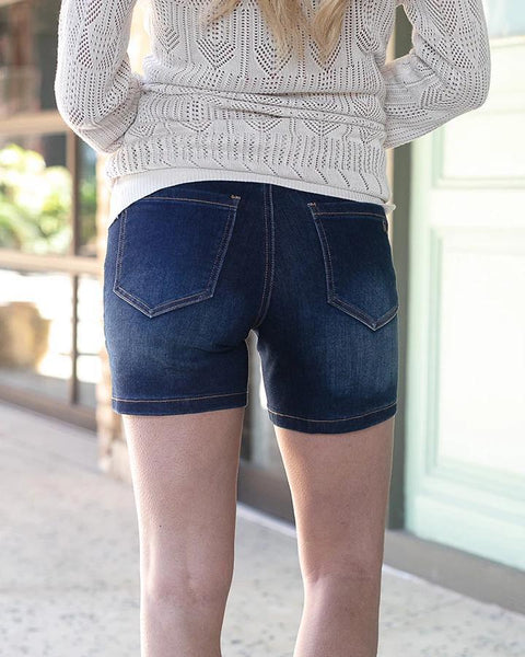 Patch Pocket Waist Shaper Shorts - My Sister's Porch
