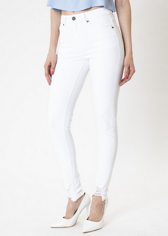 KANCAN Anya High Rise Super Skinny Jeans-white