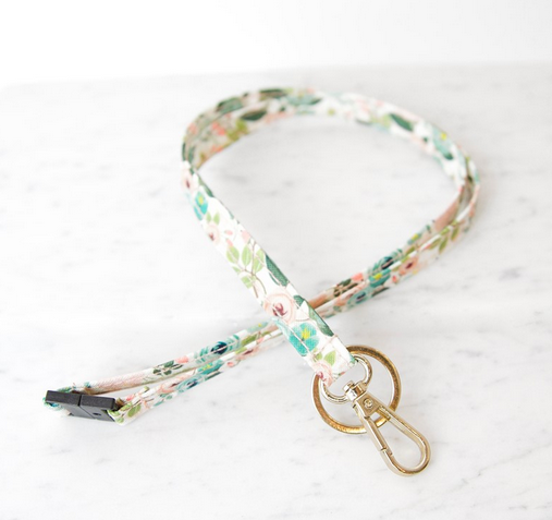 Lanyard in Peach Floral