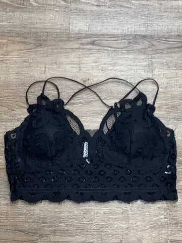 Crochet Lace Bralette in Black - My Sister's Porch