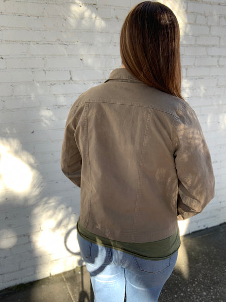 Casual Jacket in Deep Taupe