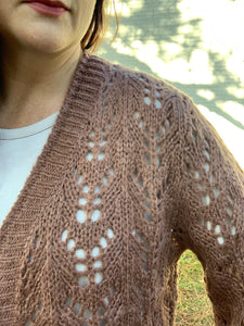 Crochet Sweater Cardigan in Burl Wood