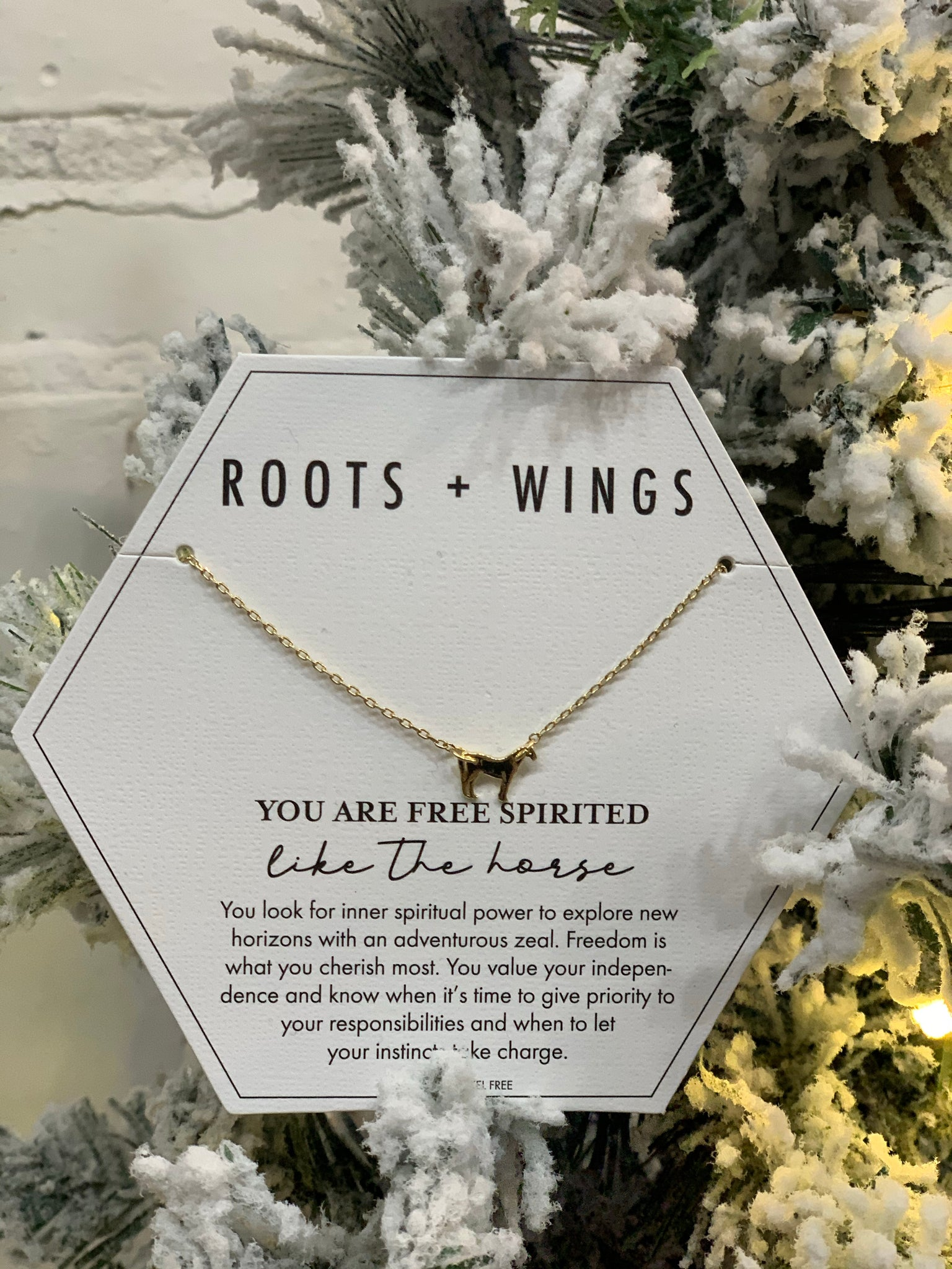 Roots + Wings Necklace - Horse