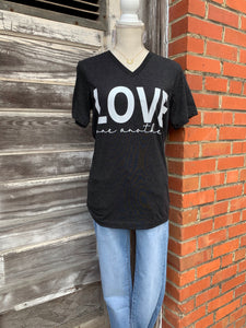 Love One Another Graphic Tee V-Neck - My Sister's Porch