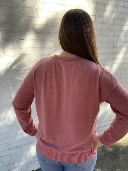 Soft Knit Sweater in Ginger