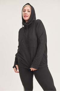 Plus Active Essential Hoodie in Black