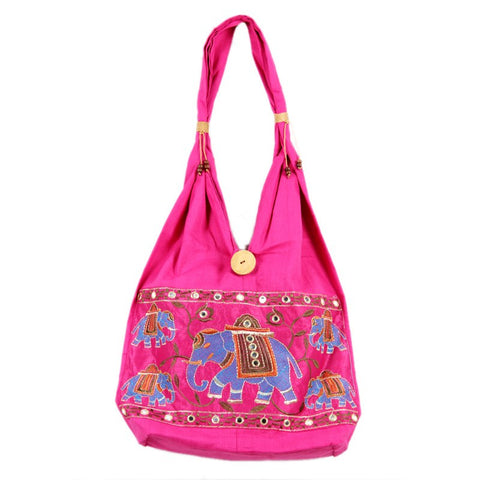Pink Elephant Shoulder Bag