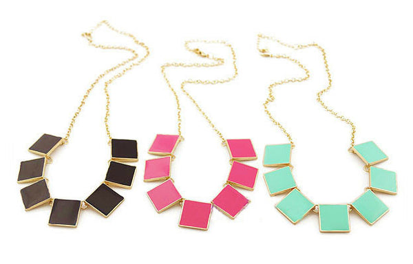 Candy Color Statement Necklace- Available in 3 Colors