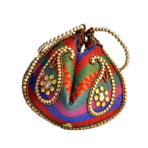 Multicolor Brocade Nightout Potli Bag