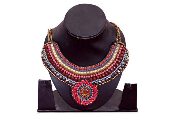 Super Luxurious Colorful Woven Necklace