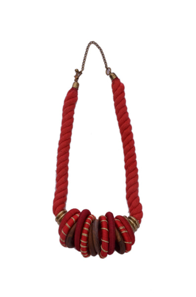 Red Tribal Necklace