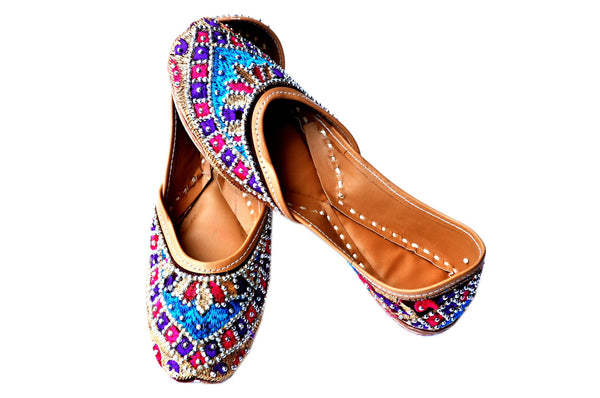 Fancy Multicolor Womens Ethnic Flats