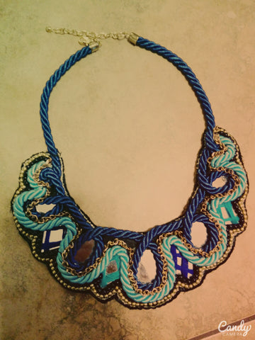 Ethnic Beaded Collar Necklace