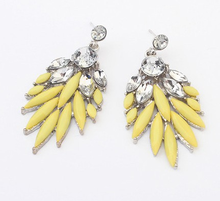 Bohemian Style Drop Earrings- Yellow