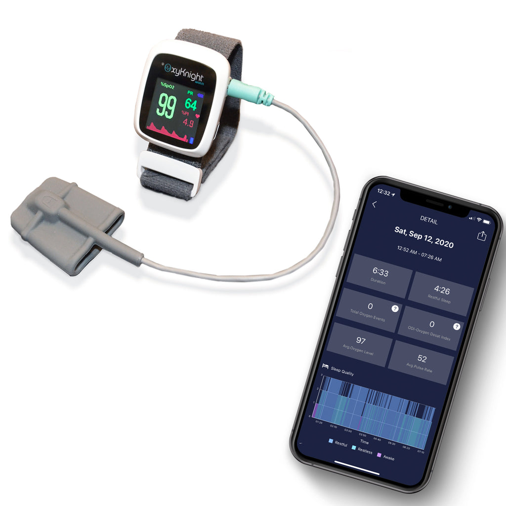 Oxknight Watch Smart Sleep Oximetry Monitor and Mobile Application