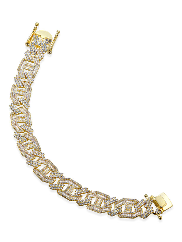 "Bracciale ""CUBAN ICE"" Gold"