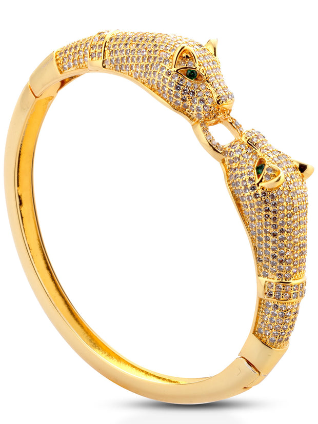 "Bracciale ""TWO PANTHER"" Gold"
