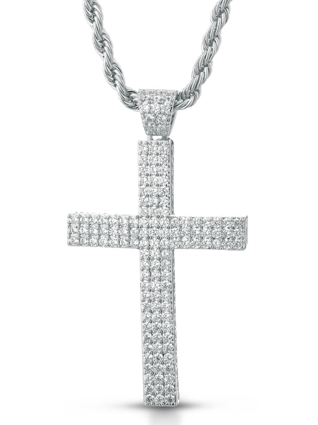 "Collana ""TRIPLE CROSS"" Silver"