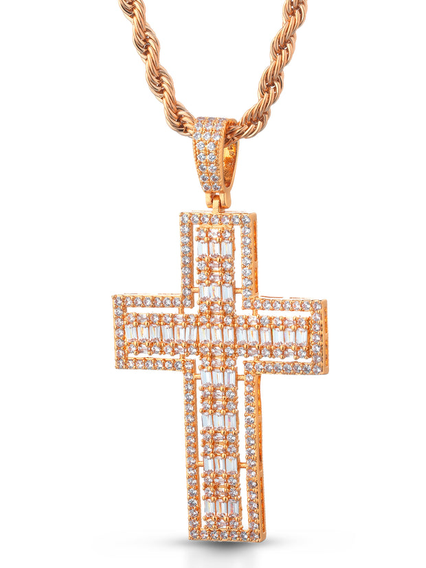 "Collana ""SQUARE CROSS"" Rose"
