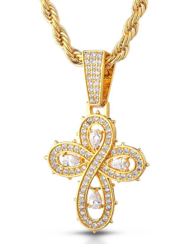 "Collana ""INFINITY CROSS"" Gold"