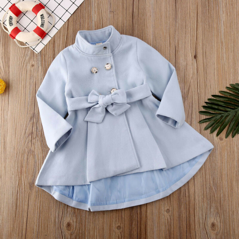 1-5 Years Toddler Luxury Baby Girl Winter Outerwear Long Dress Windbreaker Jacket Coat Autumn Winter Dress Coats