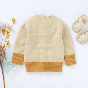2020 Luxury Baby Boy Girl Sweater Children Kids Sweatshirt Autumn Cardigan Knitted Cotton Casual Outerwear Clothes Fall