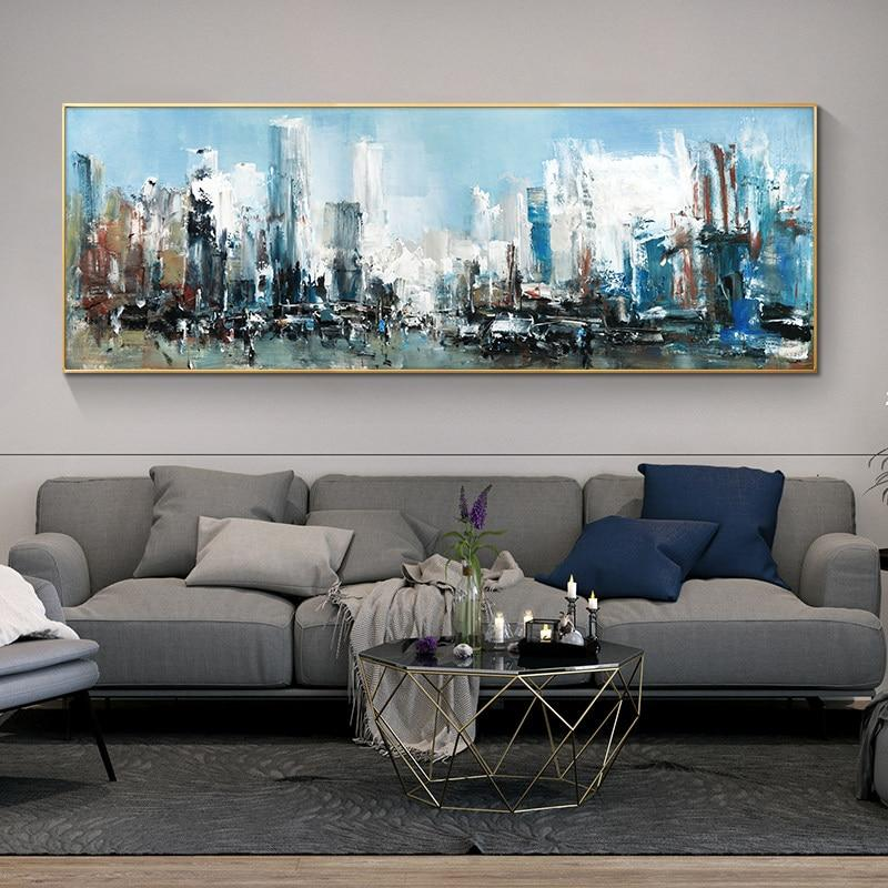 Handpainted Abstract Oil Painting Beautiful Landscape Art Pictures On Canvas For Home Decor Modern Wall Art Abstract Paintings - OUTLATTE