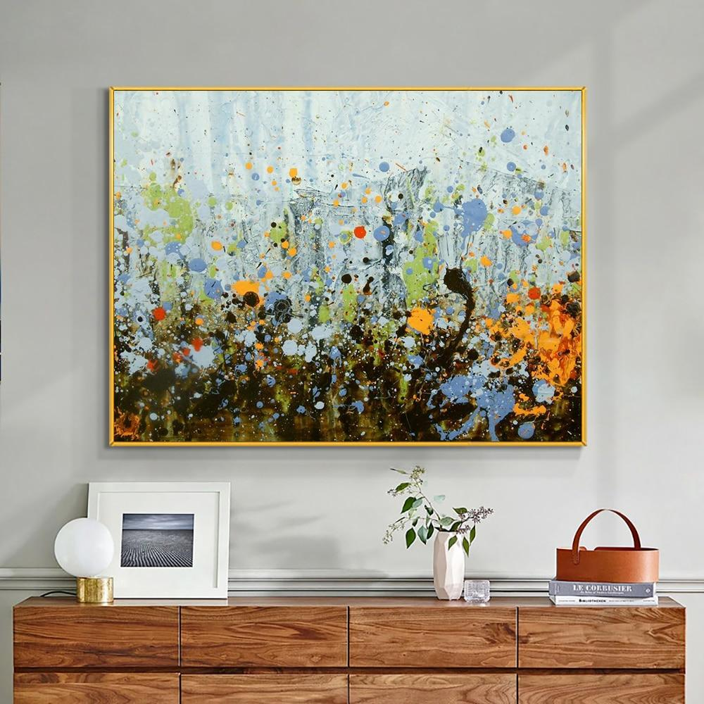 Beautiful Abstract Painting 100% Handpainted Oil Painting On Canvas Modern Wall Art Without Frame For Wedding Home Decoration - OUTLATTE