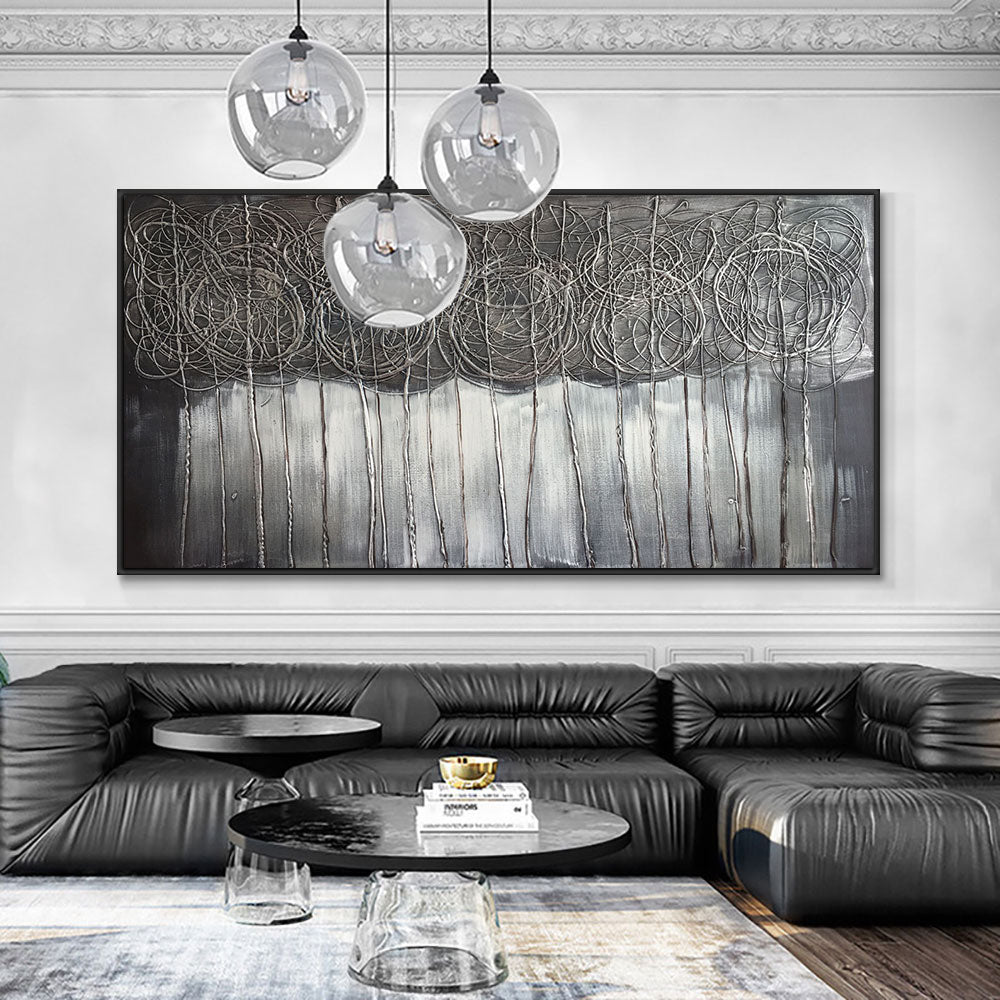Large Size Abstract Handmade Landscpae Oil Paintings On Canvas 100% Hand Painted Modern Wall Art For Living Room Home Decor