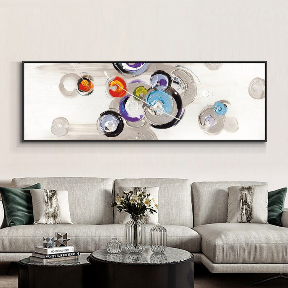 Abstract Minimalist Geometric Painting 100% Hand Painted Oil Painting On Canvas Landscape Wall Art Painting For Home Decoration