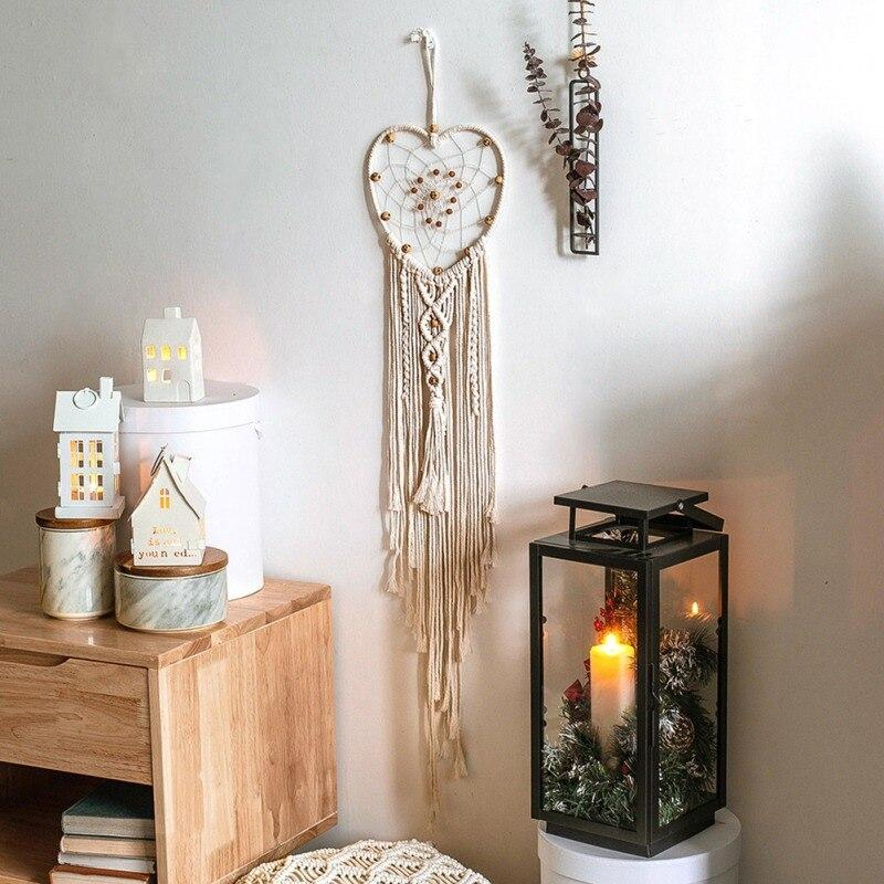 Handmade Woven Macrame Wall Hanging Tapestry Wedding Wall Decoration Backdrop Wall Home Living Room Home Decor Art - OUTLATTE