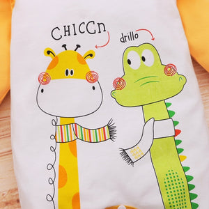 Cartoon Luxury Baby Boy Clothes Newborn Rompers Giraffe Infant Jumpsuits Flare Sleeve Pajamas Baby Long Sleeve New born Clothing