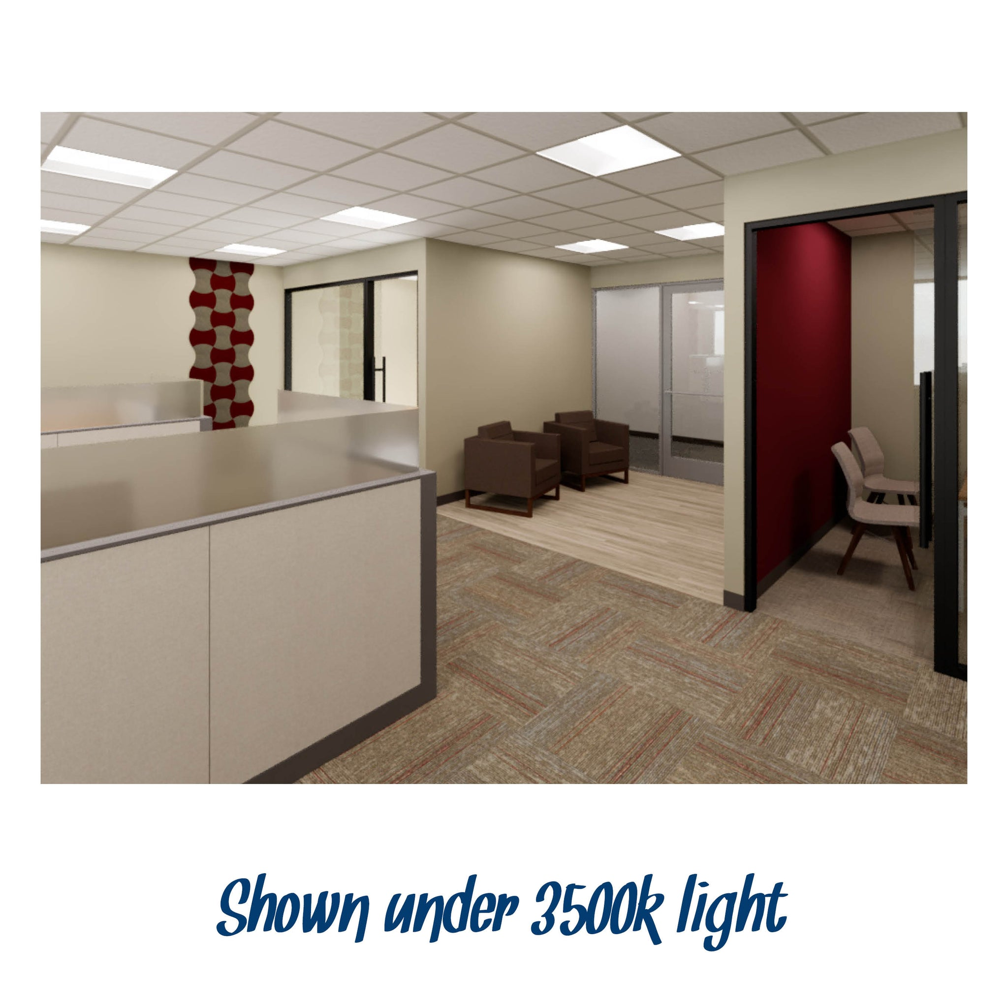 General Office Level 1 Warm Palette with Light Accent #3 Finish Palette