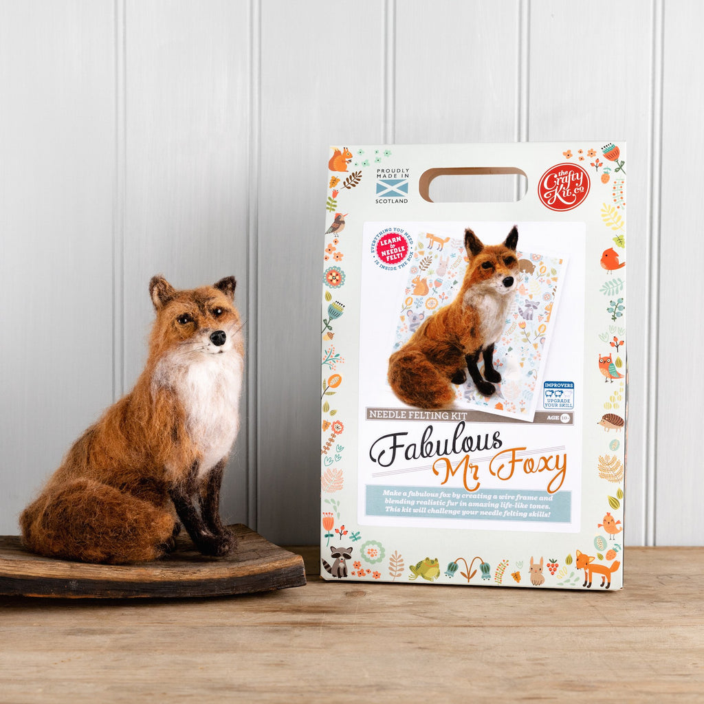 The Crafty Kit Company Fabulous Mr Foxy Needle Felting Kit