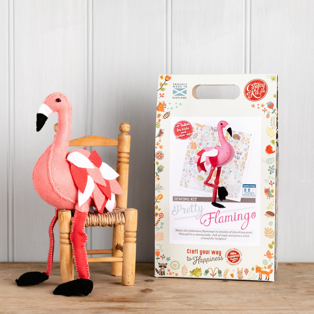 The Crafty Kit Company Pretty Flamingo Sewing Kit