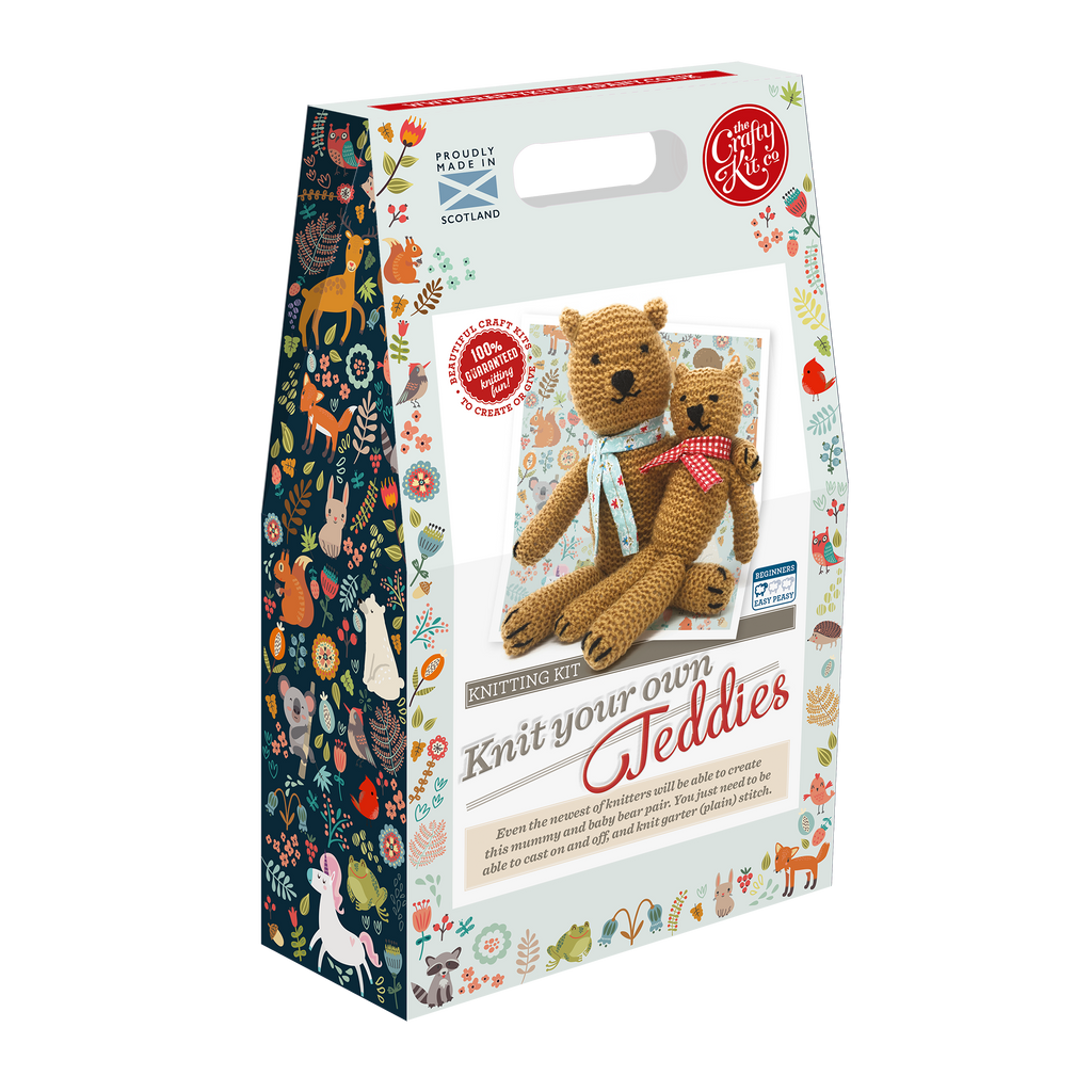 The Craft Kit Company Teddies Knitting Kit Box