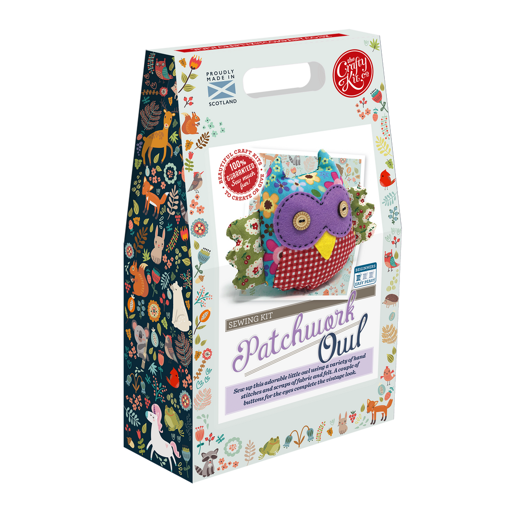 The Crafty Kit Company Patchwork Owl Sewing Kit Box