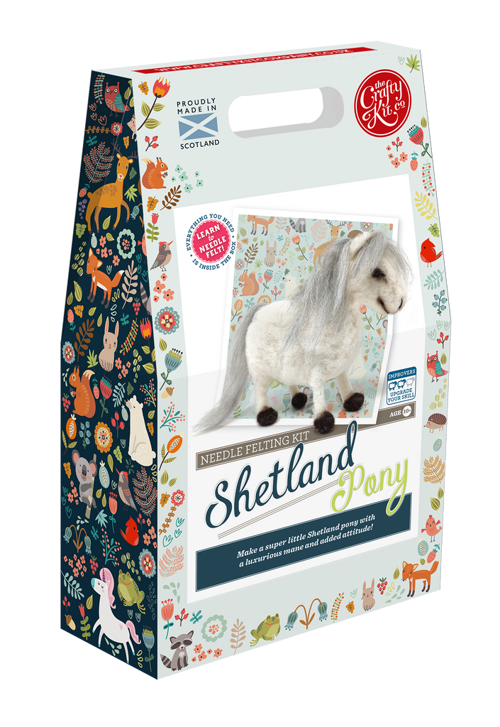 The Crafty Kit Company Shetland Pony Needle Felting Kit  Box