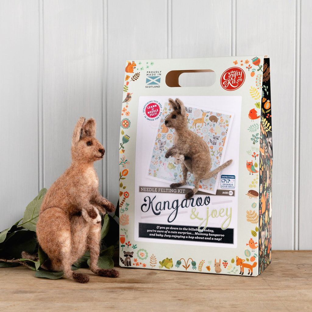 The Crafty Kit Company Kangaroo & Joey Needle Felting Kit
