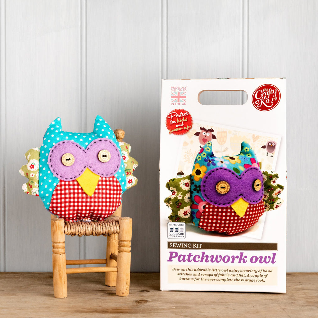The Crafty Kit Company Patchwork Owl Sewing Kit