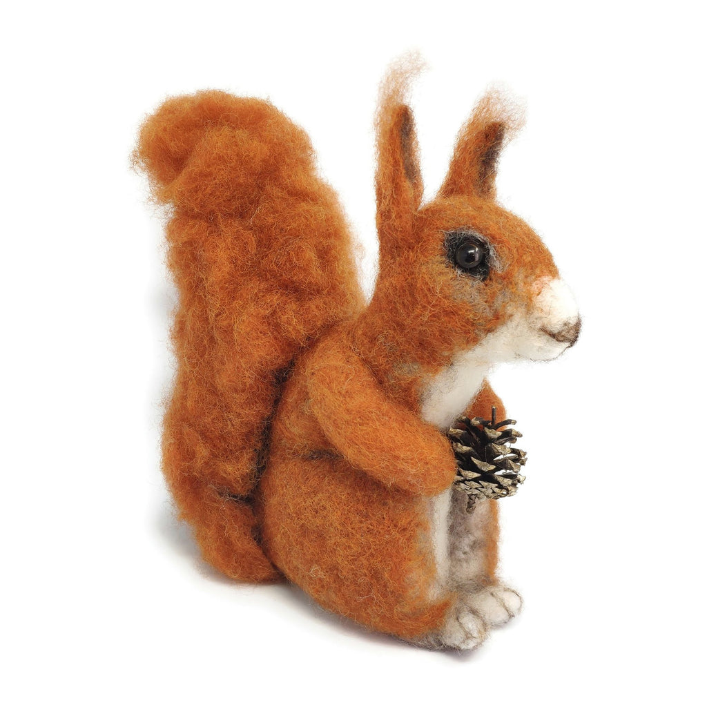The Crafty Kit Company Highland Red Squirrel Needle Felting Kit