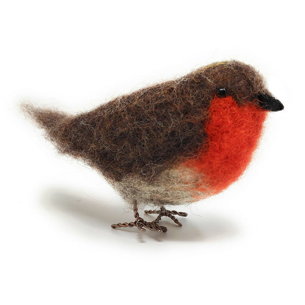 The Crafty Kit Company British Birds Robin Needle Felting Kit