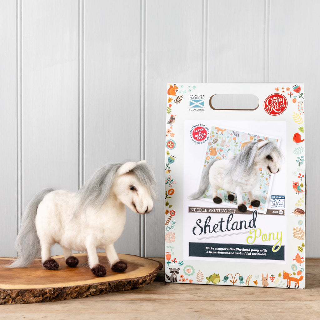 The Crafty Kit Company Shetland Pony Needle Felting Kit  Box and Shetland Pony