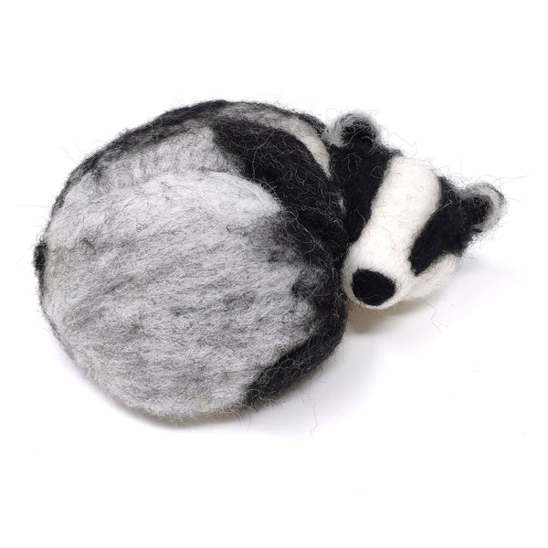 The Crafty Kit Company Sleepy Badger Needle Felting Kit