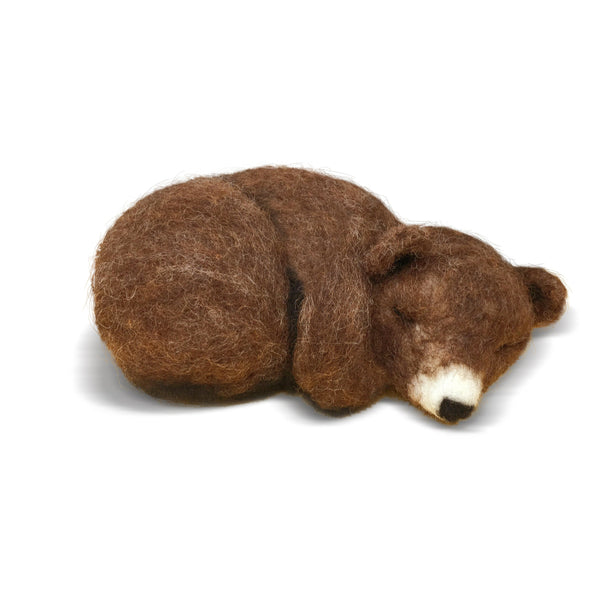 The Crafty Kit Company Sleepy Brown Bear Needle Felting Kit