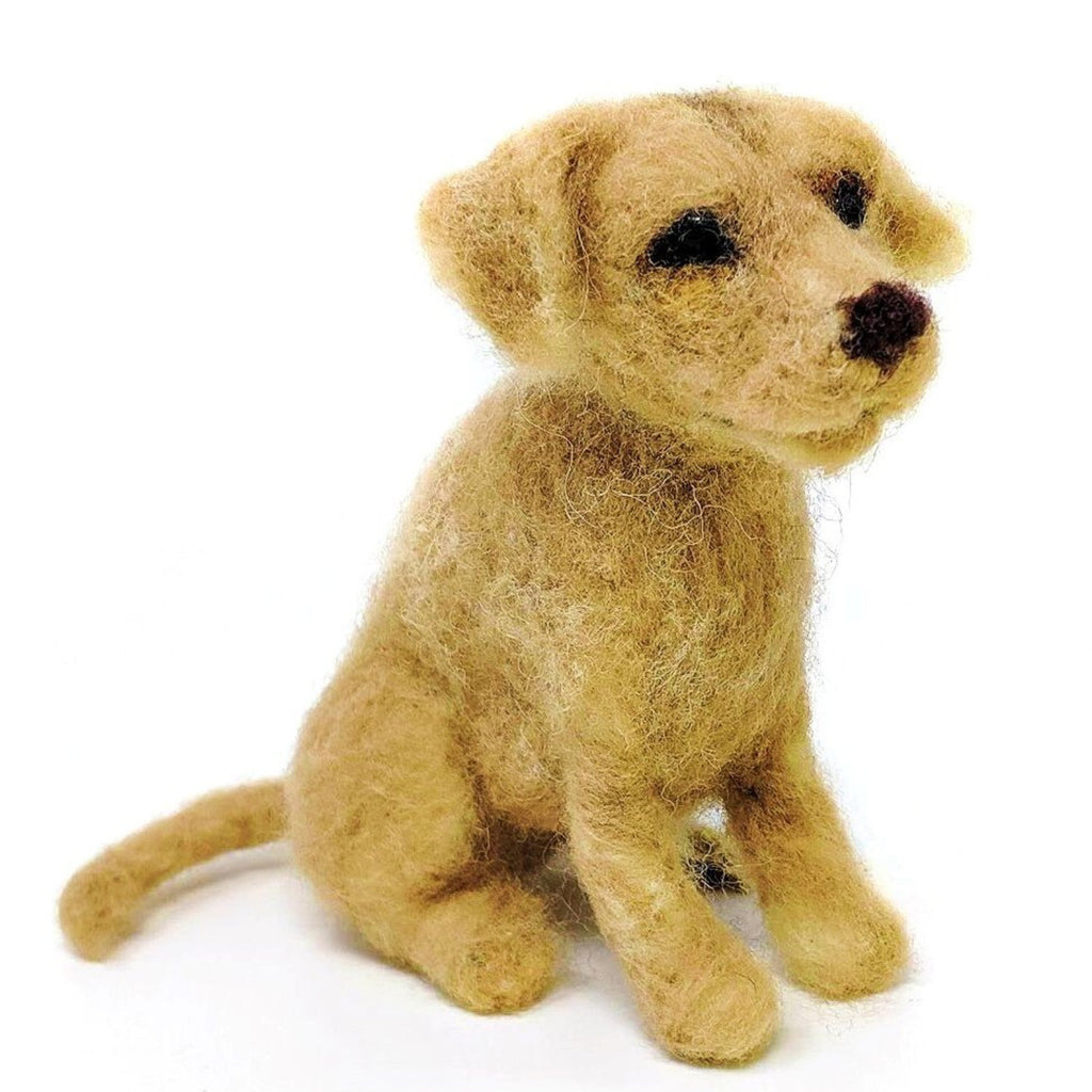 The Craft Kit Company Dinky Dogs Yellow Labrador Needle Felting Kit