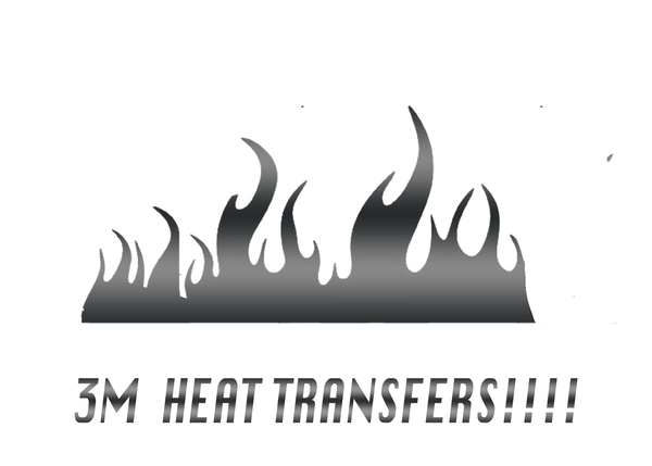 FLAMES 3M HEAT TRANSFER VINYL FOR FABRIC , SHOES, PLASTIC